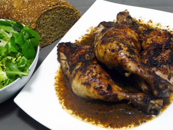Muslos de pollo con marinada oriental