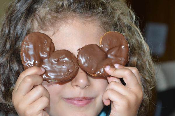 Palmeritas con chocolate