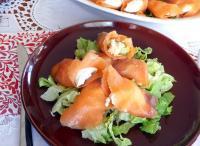 rollitos de salmón ahumado